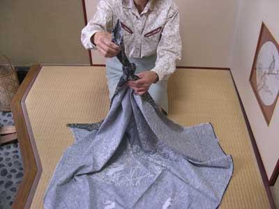 внешний вид первого узла (сумочка Фурошики своими руками)